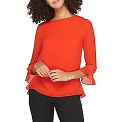Dorothy Perkins - **tall red flute sleeves top