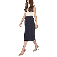 Dorothy Perkins - Tall navy full scuba skirt