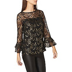 Dorothy Perkins - **tall black lace flute top