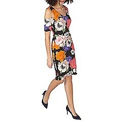 Dorothy Perkins - Tall floral cold shoulder dress