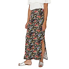 Dorothy Perkins - **tall black floral maxi skirt