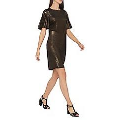 Dorothy Perkins - **tall gold glitter velvet shift dress