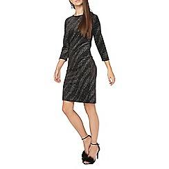 Dorothy Perkins - Tall diagonal glitter shift dress