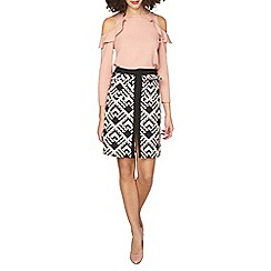 Dorothy Perkins - Tall blush geo A-line skirt