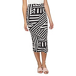 Dorothy Perkins - Tall blush and black tube skirt