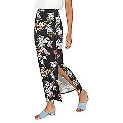 Dorothy Perkins - **tall black floral maxi skirt
