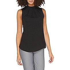 Dorothy Perkins - **tall black pleated sleeveless top