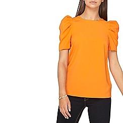 Dorothy Perkins - **tall orange puff sleeves top