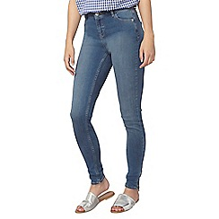 Dorothy Perkins - Tall midwash ankle zip skinny jeans