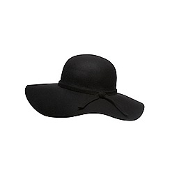 Dorothy Perkins - Black felt floppy hat
