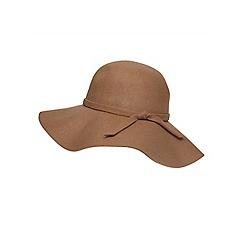 Dorothy Perkins - Camel felt floppy hat
