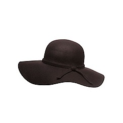 Dorothy Perkins - Chocolate felt floppy hat