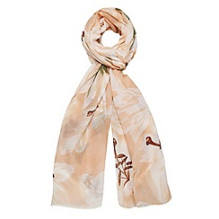 Dorothy Perkins - Nude oversize lily print scarf