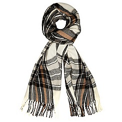 Dorothy Perkins - Cream check blanket scarf