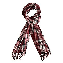 Dorothy Perkins - Wine jewel tartan scarf