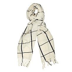 Dorothy Perkins - Cream window pain check scarf