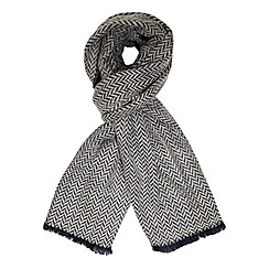 Dorothy Perkins - Navy chevron and plain blanket scarf