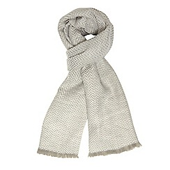 Dorothy Perkins - Grey chevron blanket scarf