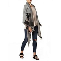 Dorothy Perkins - Grey asymmetric blanket scarf