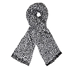 Dorothy Perkins - Black and white boucle scarf
