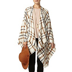 Dorothy Perkins - Cream fine check cape