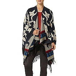 Dorothy Perkins - Navy folk double sided cape