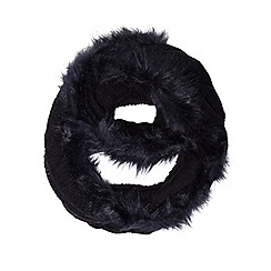 Dorothy Perkins - Navy knit and faux fur snood