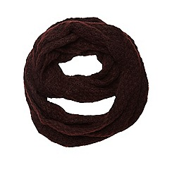 Dorothy Perkins - Wine twist yarn snood