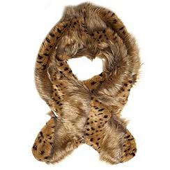Dorothy Perkins - Camel leopard stripe stole