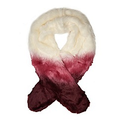 Dorothy Perkins - Wine ombre faux fur stole