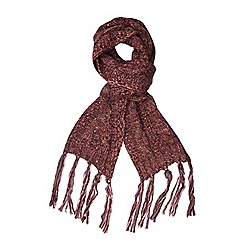 Dorothy Perkins - Wine yarn and sequin scarf