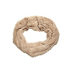 Dorothy Perkins - Oat crushed fur snood