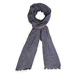 Dorothy Perkins - Navy herringbone plain scarf