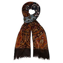 Dorothy Perkins - Brown foil paisley snood