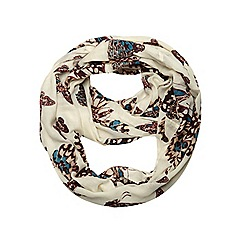 Dorothy Perkins - Cream peacock butterfly snood