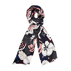 Dorothy Perkins - Wine autumn floral scarf