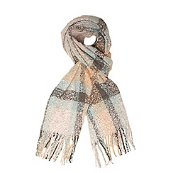 Dorothy Perkins - Pink check boucle scarf