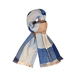 Dorothy Perkins - Blue check plain scarf