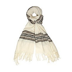 Dorothy Perkins - Cream stripe blanket scarf