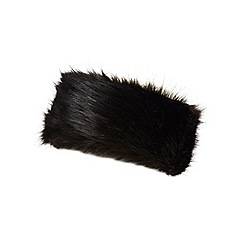 Dorothy Perkins - Black fur headband