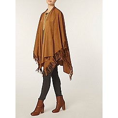 Dorothy Perkins - Tan suedette cape