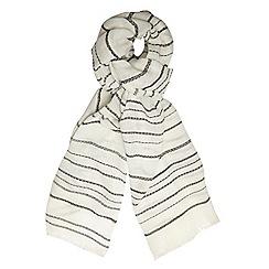 Dorothy Perkins - White stripe plain scarf