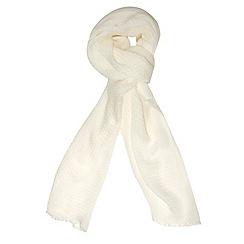 Dorothy Perkins - Ivory acrylic plain scarf