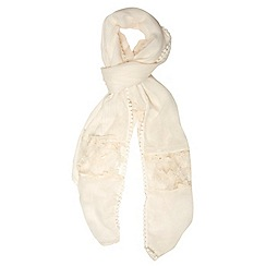 Dorothy Perkins - Cream lace insert scarf