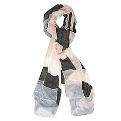 Dorothy Perkins - White blue striped scarf