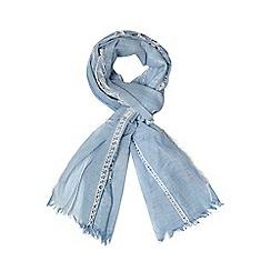 Dorothy Perkins - Blue ladder stripe scarf