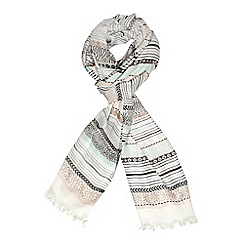 Dorothy Perkins - Pink pastel jacquard scarf