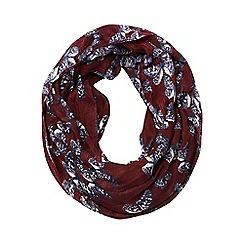 Dorothy Perkins - Wine butterfly snood