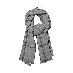 Dorothy Perkins - Grey lurex check scarf