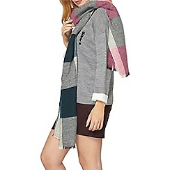Dorothy Perkins - Pink and green blanket scarf